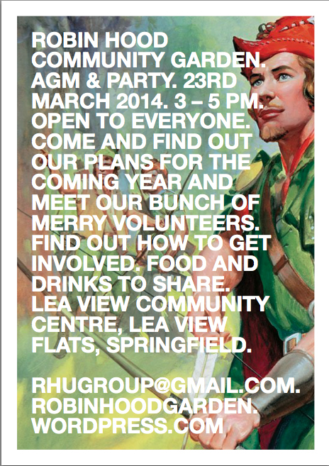 AGM & Party 23rd March 3-5 p.m.